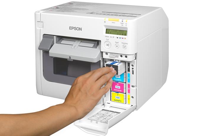 Epson TM-C3500 Colour Name Badge Printer