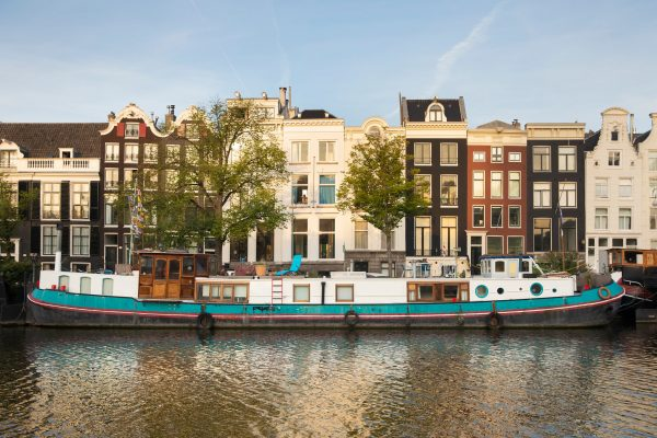 Evening Canal Cruise Ship Amsterdam